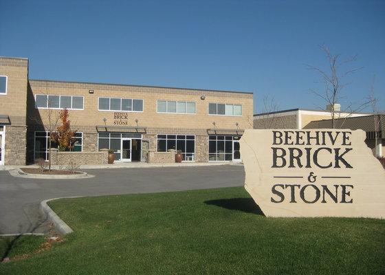 Beehive Brick Sign